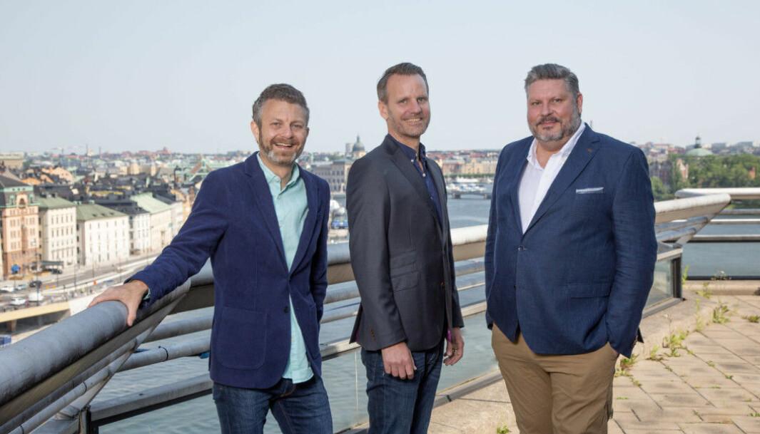 Fra venstre: Michael Wahlgren, Gründer av Pineberry, Christian Litezings, VD i Pineberry, Michael Jäderlind, CEO NOVA Sverige.